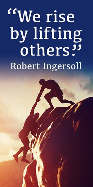 Inspirational Banner - Robert Ingersoll