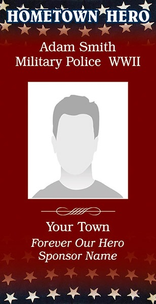 Hometown Heroes Banner Template